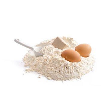 Uova, farina e lievito